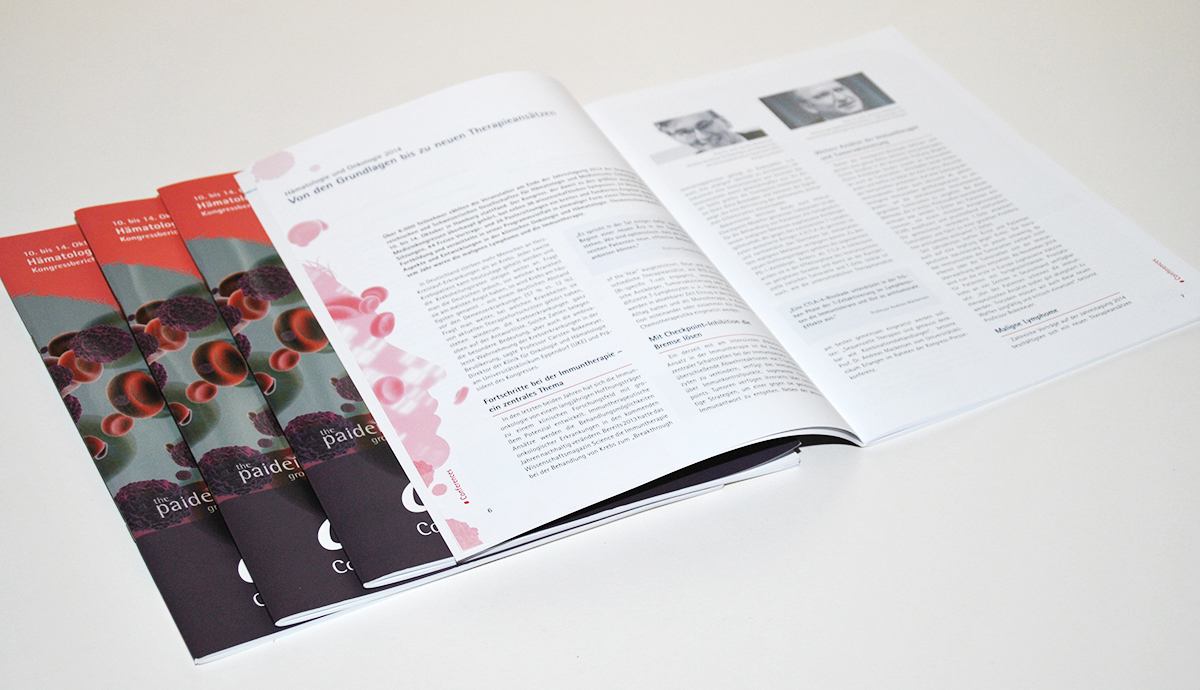 editorial design, magazin, connexi magazin, berlin, Onkologie, Kongress